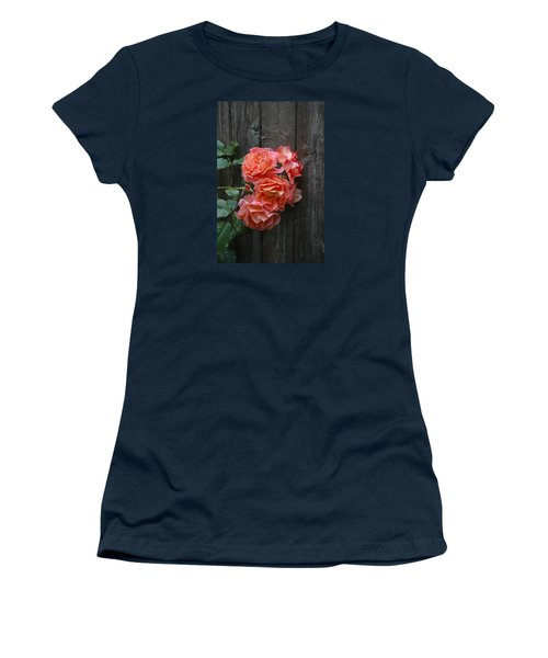 Westerland Rose Wood Fence Women's T-Shirt (Junior Cut) by Tom Wurl