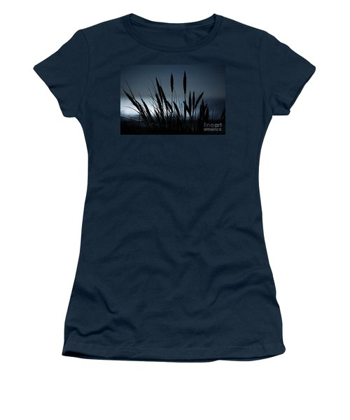 Wheat Stalks On A Dune At Moonlight Women's T-Shirt