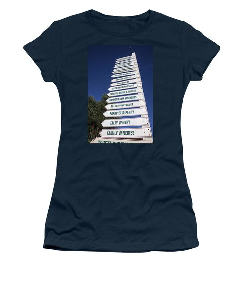 Wine Country Signs Women's T-Shirt