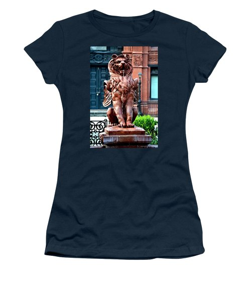 Winged Lion Fountain Women's T-Shirt (Athletic Fit)