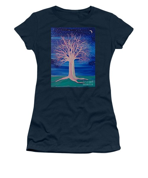 Winter Fantasy Tree Women's T-Shirt (Athletic Fit)