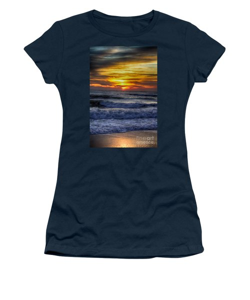 Winter North Carolina Sunrise Women's T-Shirt (Athletic Fit)