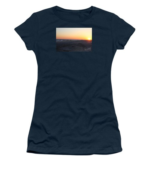Winter Sunset On Long Beach Women's T-Shirt (Junior Cut) by John Telfer
