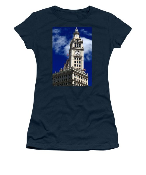 Wrigley Building Clock Tower Women's T-Shirt