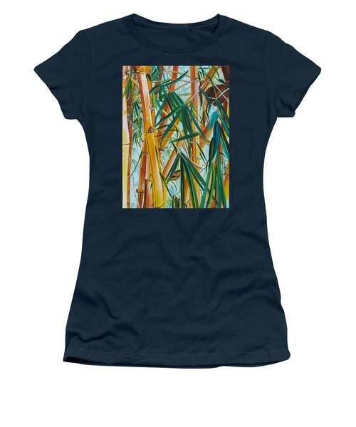 Yellow Bamboo Women's T-Shirt (Junior Cut) by Marionette Taboniar