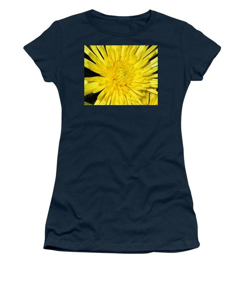 Yellow Flower Closeup Women's T-Shirt (Athletic Fit)