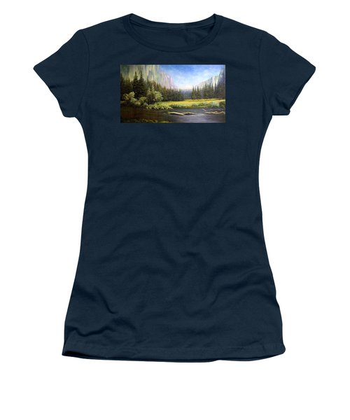 Yosemite Women's T-Shirt (Junior Cut) by Loxi Sibley