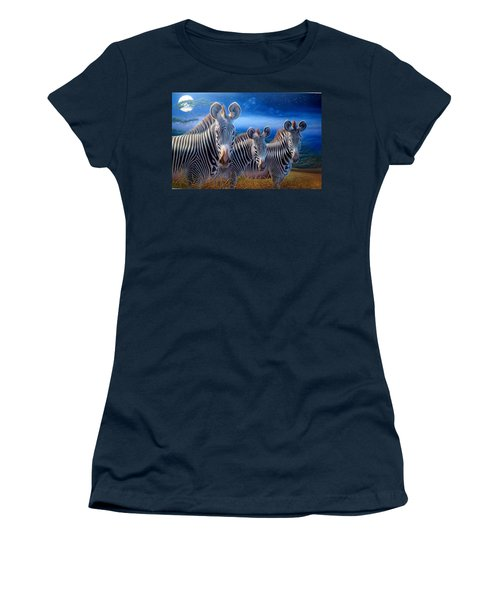 Zebras Women's T-Shirt (Junior Cut) by Hans Droog