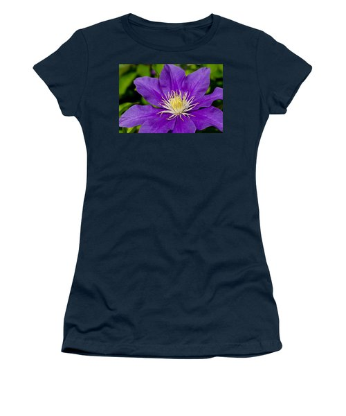 Purple Clematis Flower Women's T-Shirt