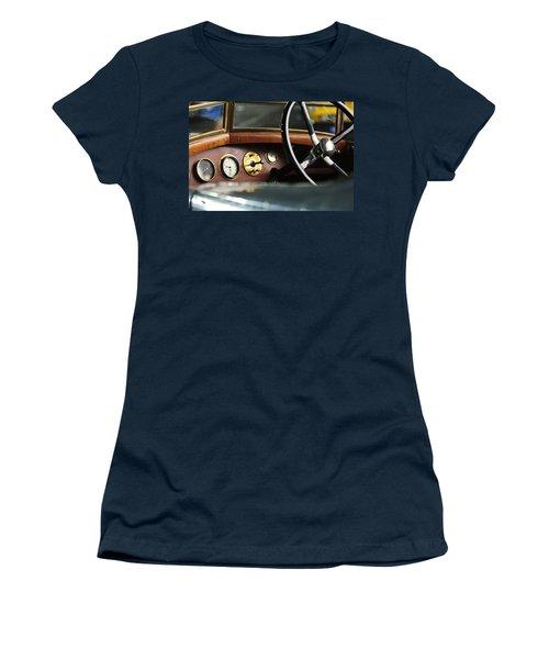1921 Bentley  Instruments And Steering Wheel Women's T-Shirt