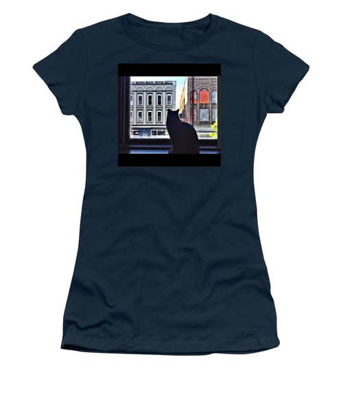 A Cat's View Women's T-Shirt (Athletic Fit)