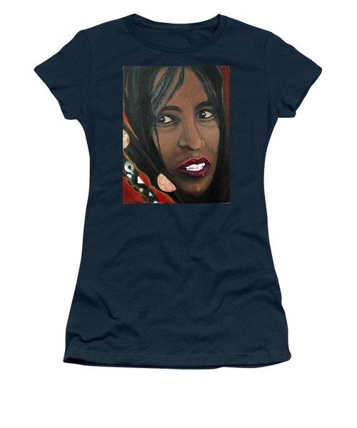 Women's T-Shirt (Junior Cut) featuring the painting Alem E. W. by Anna Ruzsan