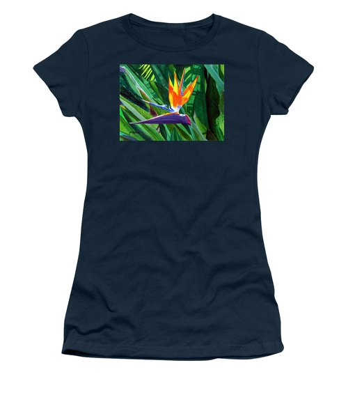 Bird-of-paradise Women's T-Shirt (Junior Cut) by Mike Robles