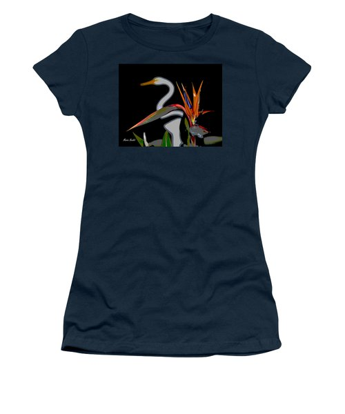 Birds In My Paradise... Women's T-Shirt (Athletic Fit)