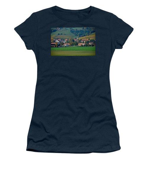 Women's T-Shirt (Junior Cut) featuring the photograph Bonvillars by Eric Tressler