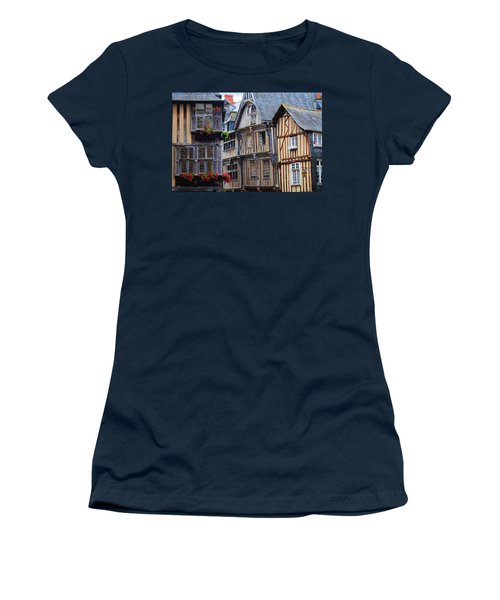 Women's T-Shirt (Junior Cut) featuring the photograph Brittany Buildings by Dave Mills
