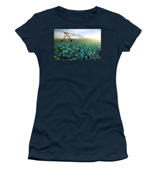 Cabbage Growth Women's T-Shirt (Junior Cut) by Carlos Caetano