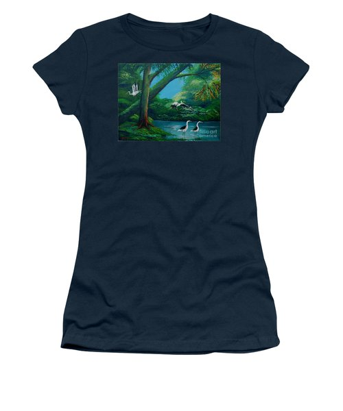 Cranes On The Swamp Women's T-Shirt