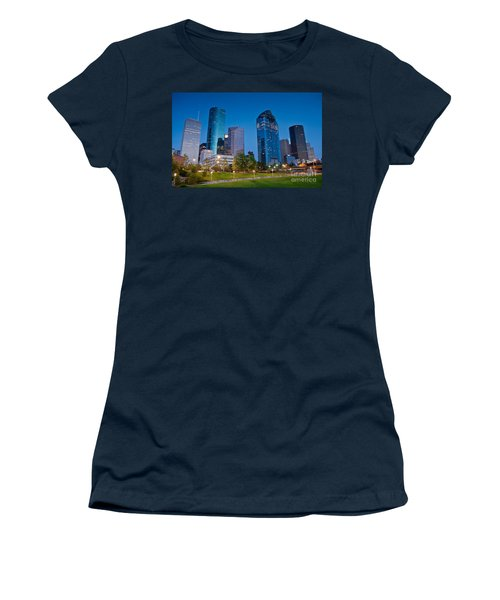 Downtown Houston Women's T-Shirt (Athletic Fit)