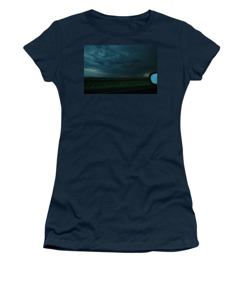 Women's T-Shirt (Junior Cut) featuring the photograph Driving Rain Number Two by Lon Casler Bixby