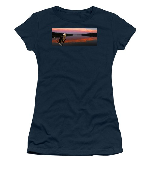 Women's T-Shirt (Junior Cut) featuring the photograph Eagle Overlooking Domain by Randall Branham