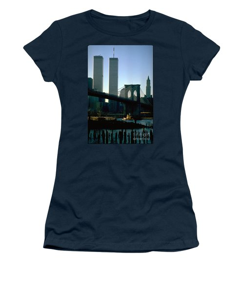 East River Tugboat Women's T-Shirt (Junior Cut) by Mark Gilman