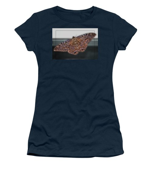 Women's T-Shirt (Junior Cut) featuring the photograph Giant Moth by DigiArt Diaries by Vicky B Fuller