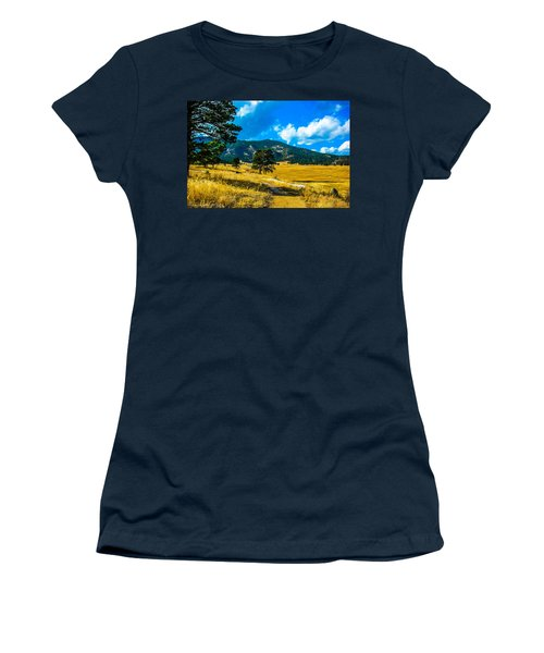 Women's T-Shirt (Junior Cut) featuring the photograph God's Country by Shannon Harrington