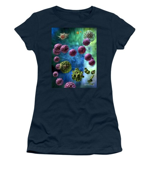 Women's T-Shirt (Junior Cut) featuring the digital art Immune Response Cytotoxic 3 by Russell Kightley