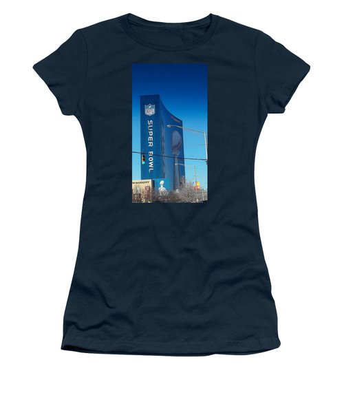 Indianapolis Marriott Welcomes Super Bowl 46 Women's T-Shirt