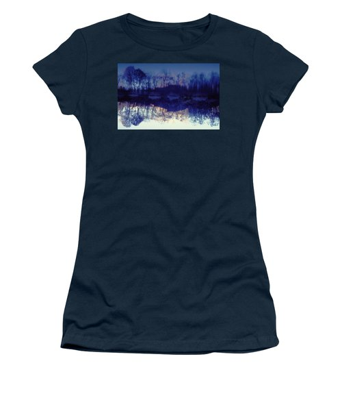Women's T-Shirt (Junior Cut) featuring the photograph Mirror Pond In The Berkshires by Tom Wurl