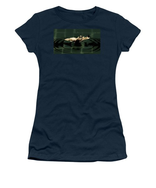 Women's T-Shirt (Junior Cut) featuring the photograph Moth Ripples by Jessica Shelton