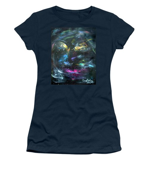 Nebula's Face Women's T-Shirt (Athletic Fit)