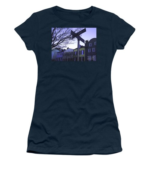 Women's T-Shirt (Junior Cut) featuring the photograph Night In Savannah by Andrea Anderegg