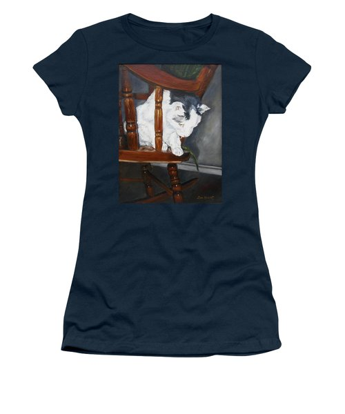 Women's T-Shirt (Junior Cut) featuring the painting Oops by Lori Brackett
