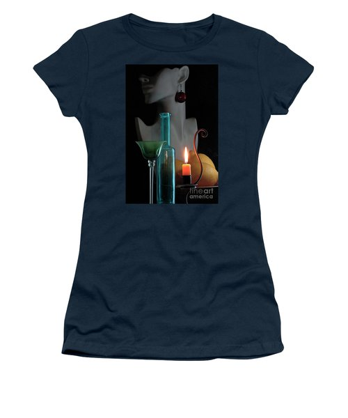 Women's T-Shirt (Junior Cut) featuring the photograph Orange Candle by Elf Evans