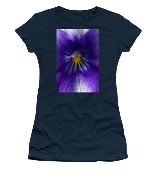 Pansy Abstract Women's T-Shirt (Athletic Fit)