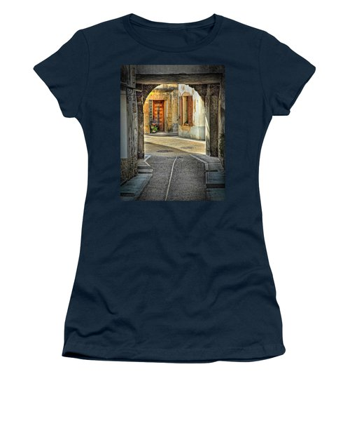 Women's T-Shirt (Junior Cut) featuring the photograph Passageway And Arch In Provence by Dave Mills