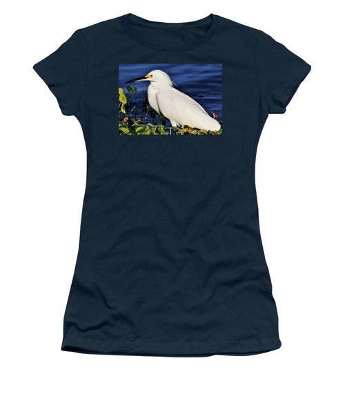 Profile Of A Snowy Egret Women's T-Shirt