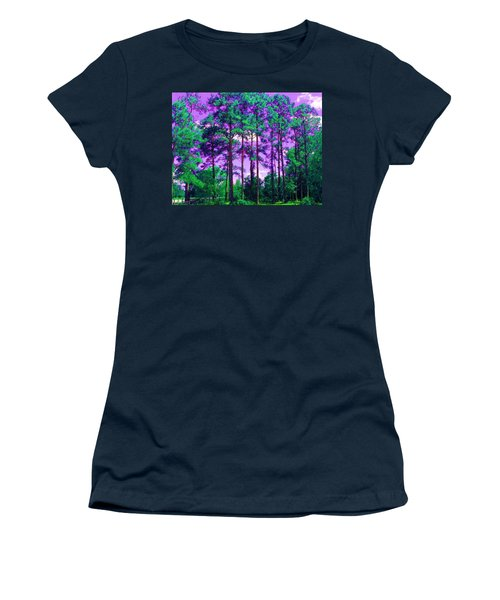 Women's T-Shirt (Junior Cut) featuring the photograph Purple Sky by George Pedro