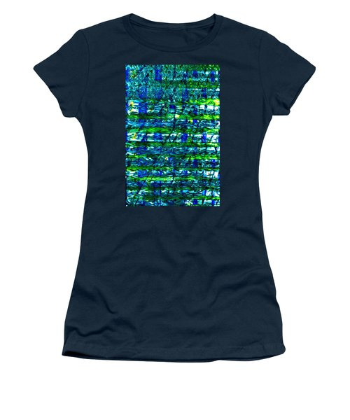 Women's T-Shirt (Junior Cut) featuring the mixed media Rice Harvest by Terence Morrissey