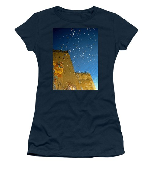Women's T-Shirt (Junior Cut) featuring the photograph River Crossing Border Crossing by Andy Prendy