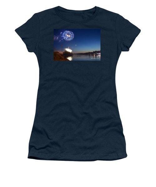 Sparkling Water  Women's T-Shirt (Junior Cut) by Sue Stefanowicz