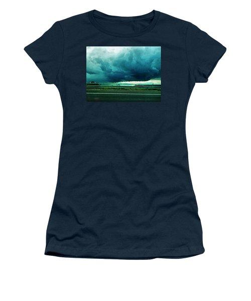 Women's T-Shirt (Junior Cut) featuring the digital art Storm Approaching  by Steve Taylor