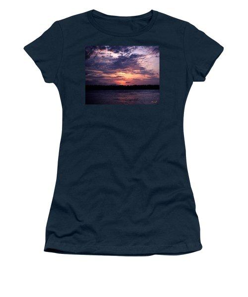 Sunset Off Mallory Square 14s Women's T-Shirt (Junior Cut) by Gerry Gantt