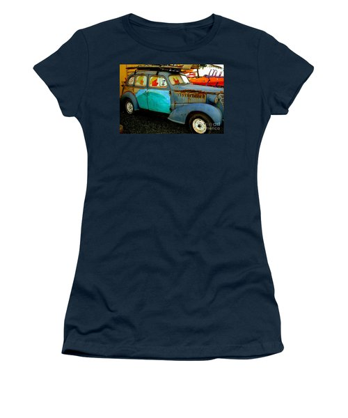 Surf Mobile Women's T-Shirt (Junior Cut) by Mark Gilman