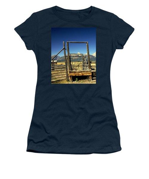 Women's T-Shirt (Junior Cut) featuring the photograph Teton Ranch by Marty Koch