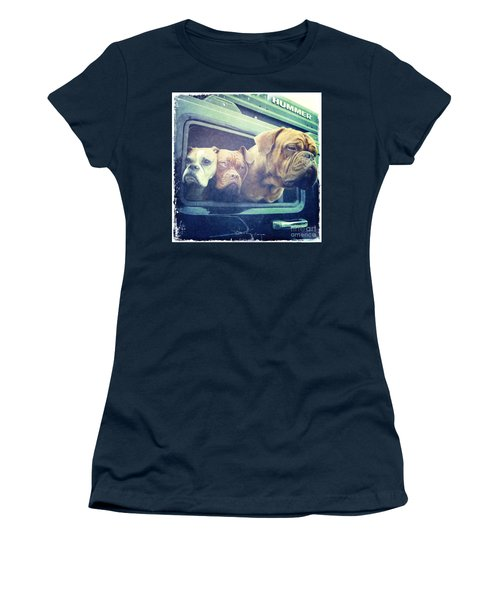 The Dog Taxi Is A Hummer Women's T-Shirt (Athletic Fit)