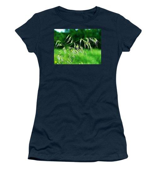 Women's T-Shirt (Junior Cut) featuring the photograph The Grass Seeds by Steve Taylor