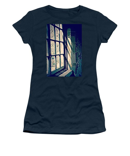 Women's T-Shirt (Junior Cut) featuring the photograph View Through The Window - Painterly Effect by Marilyn Wilson